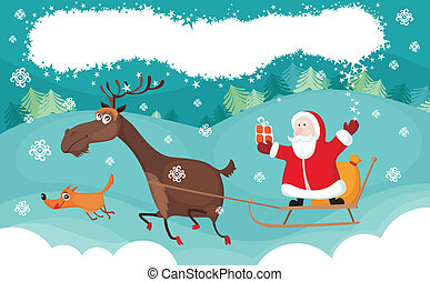 christmas card - vector illustration of a christmas card