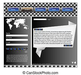 Web site design template 39