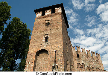 Verona - LAteral tower of the Castelvecchio Castle