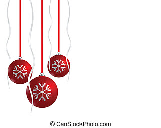 Red Christmas balls, eps8 - Red Christmas balls on white...