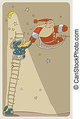 Santa Baby and Santa Adult