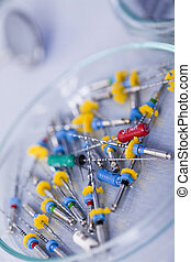 Dental medicine - Dentist equipment on blue background