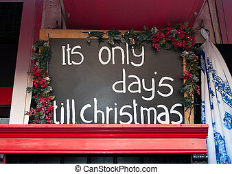 counting down till christmas - shield with the number of...