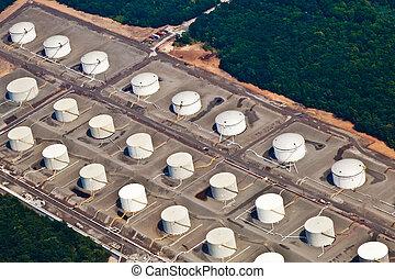tank farm in Newark near New York