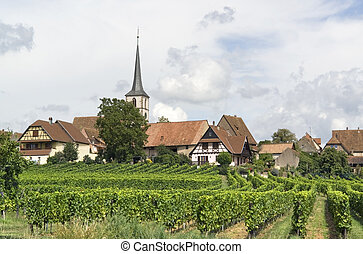 Mittelbergheim in France - idyllic scenery including...