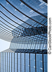 glass front of office tower