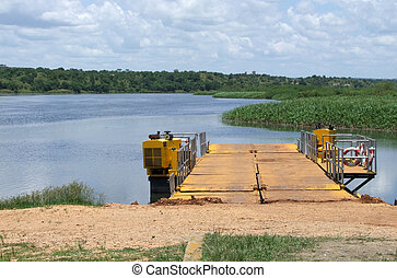 ferry pier at the White Nile - a ferry pier at the White...