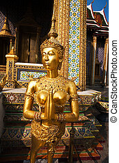 a kinaree, a mythology figure, in the Grand Palace in...