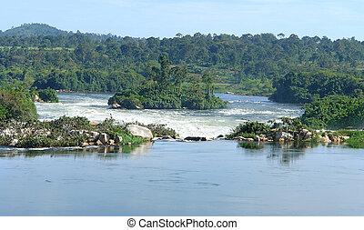 River Nile scenery near Jinja in Africa
