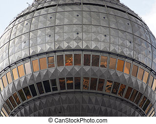 Fernsehturm Berlin - detail of the television tower in...