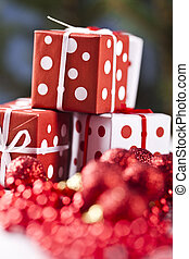 Christamas gifts - Photography of baubles and gift connected...