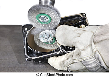 scrubbing a hard disk - open hard disk gets scrubbed