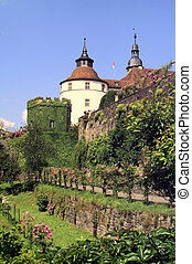 castle Langenburg at summer time