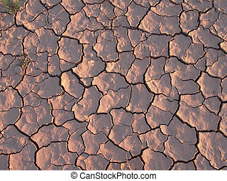 earth is cracked by heat and dryness