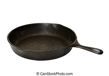 Cast Iron Skillet Isolated - Cast iron skillet isolated on...