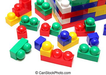 house of blocks - meccano toy - building house of blocks -...