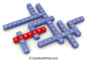 crucigrama, compañía