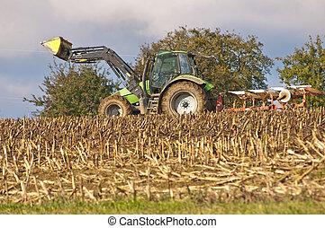 agricultura, máquina, arado