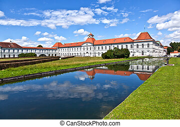 park in nymphenburg castle, munich - park in nymphenburg...