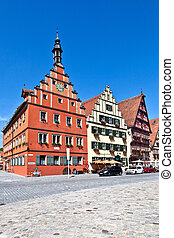 famous old romantic medieval town of Dinkelsbuehl in...