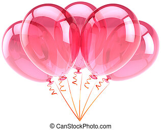 Pink party balloons decoration