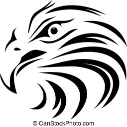 Eagle line art face