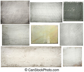 Metal textures - Old scratched metal textures set