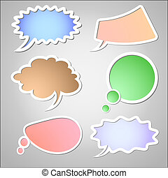 retro speech bubbles