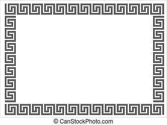 Greek frame - Greek frame on white backgroundGreek frame on...