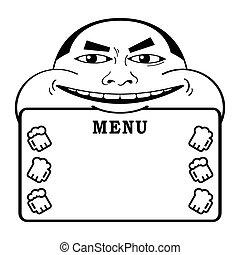 Beer man menu