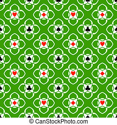 Aces seamless pattern
