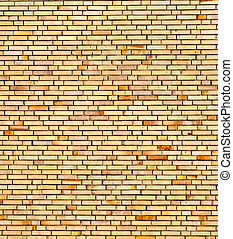 beige yellow brick wall