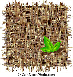 Organic weave pattern Eco background