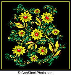 Khokhloma-style - Traditional Khokhloma-style pattern....