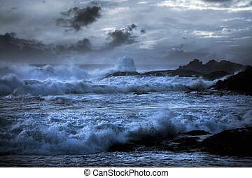 Stormy beach - Storm in a beach in the Portuguese north...