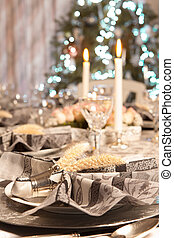 Luxury christmas table