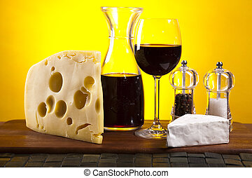 Wine and Cheese still life - Wine and Cheese still life...