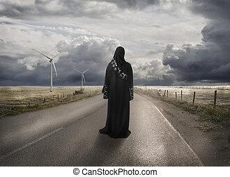 概念, 丟失, 穆斯林,  -, 搜尋, 婦女, 權利, 時間, 地方, 方式