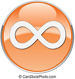 87157696 - infinite symbol icon orange