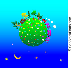 Cartoon Planet Earth - Vector traveling around the world...
