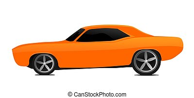 Muscle car - Illustration of a vintage muscle car