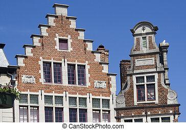 Gables in Ghent, Belgium