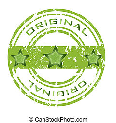 Abstract green grunge office rubber stamp