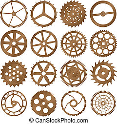 Set of vector design elements - watch gears - Set of vector...