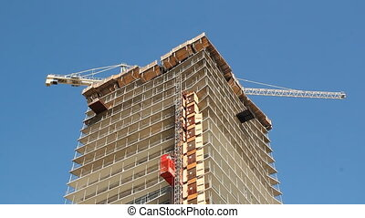 Condo construction - Condominium being built in Toronto,...