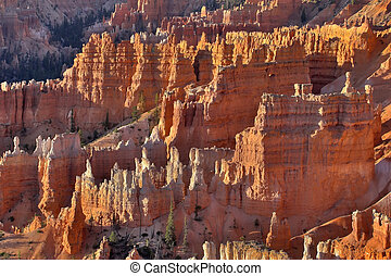 The bewitched city - The well-known orange rocks in Bryce...