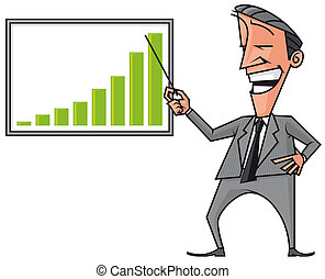 Business presentation - Isolated illustration of Business...