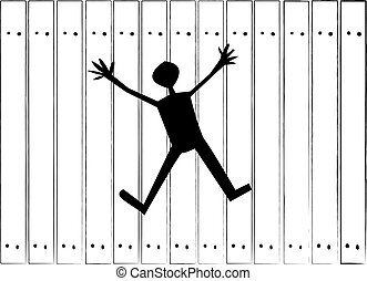 The wall - A break in the wall in the form of a human figure