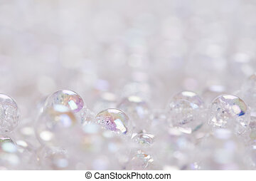 Glass Beads Background - Macro shot of glass beads with...
