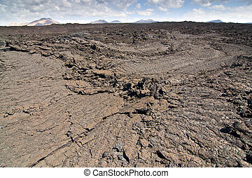 volcanic landscape - Under the volcano